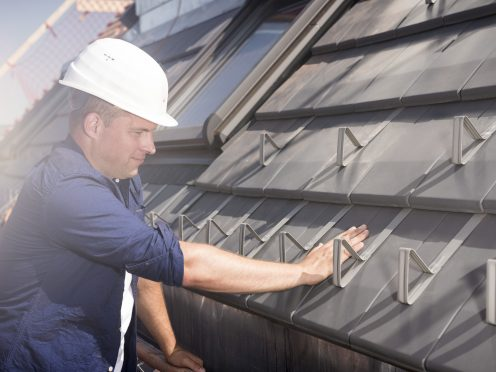Roof installation of Actua roof tiles