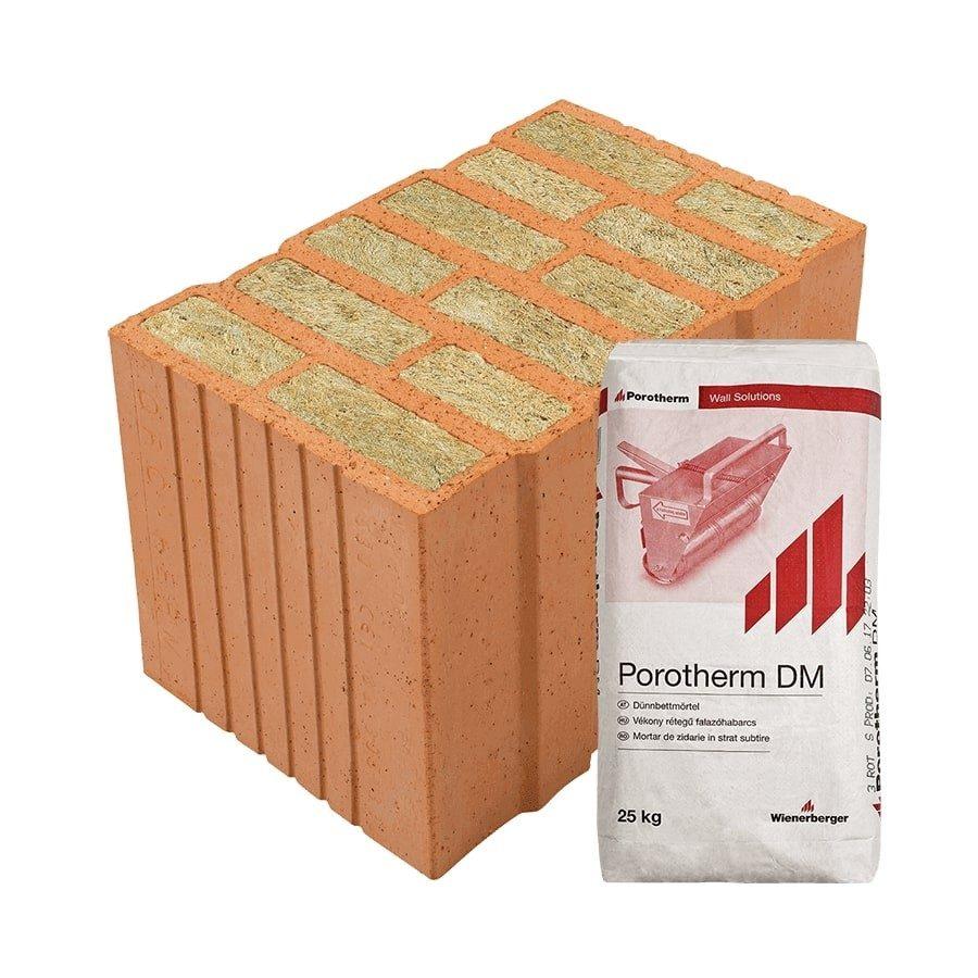 Porotherm 38 Thermo Profi tégla kiváló hőszigetelő képességű