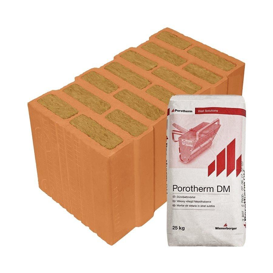 Porotherm 44 Thermo Profi tégla kőzetgyapot töltetű