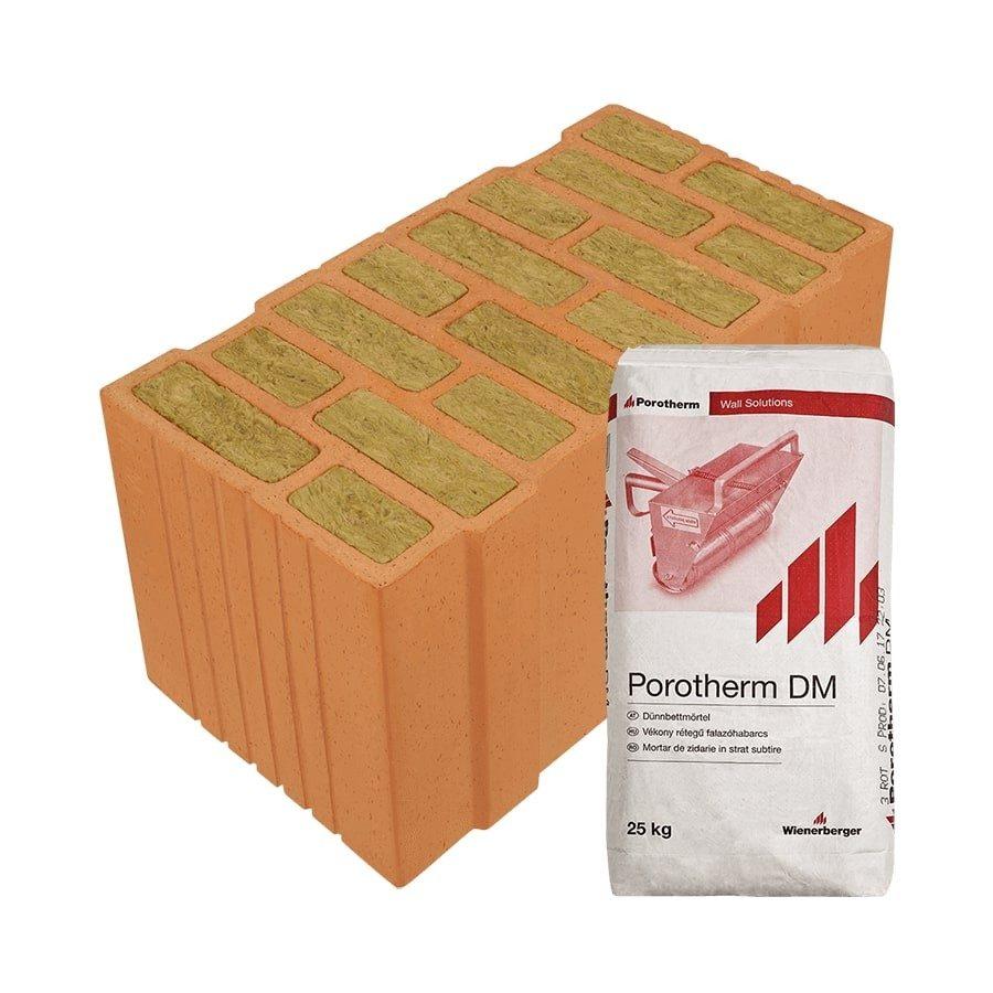 Porotherm 50 Thermo Profi tégla kiváló hőszigetelő képességű