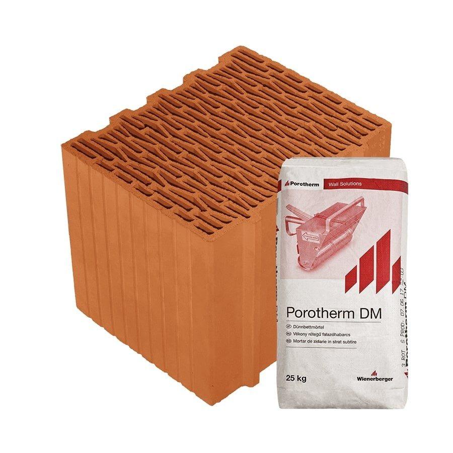 Porotherm 30 Klíma Profi tégla külső falakhoz