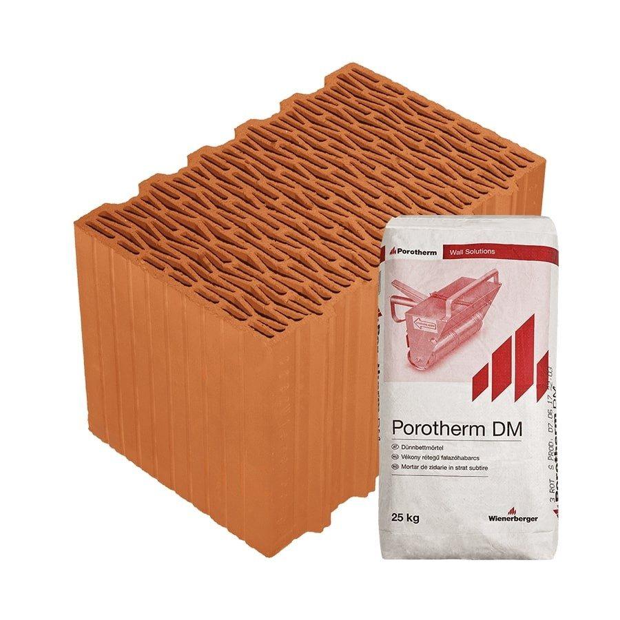 Porotherm 38 Klíma Profi tégla külső falhoz