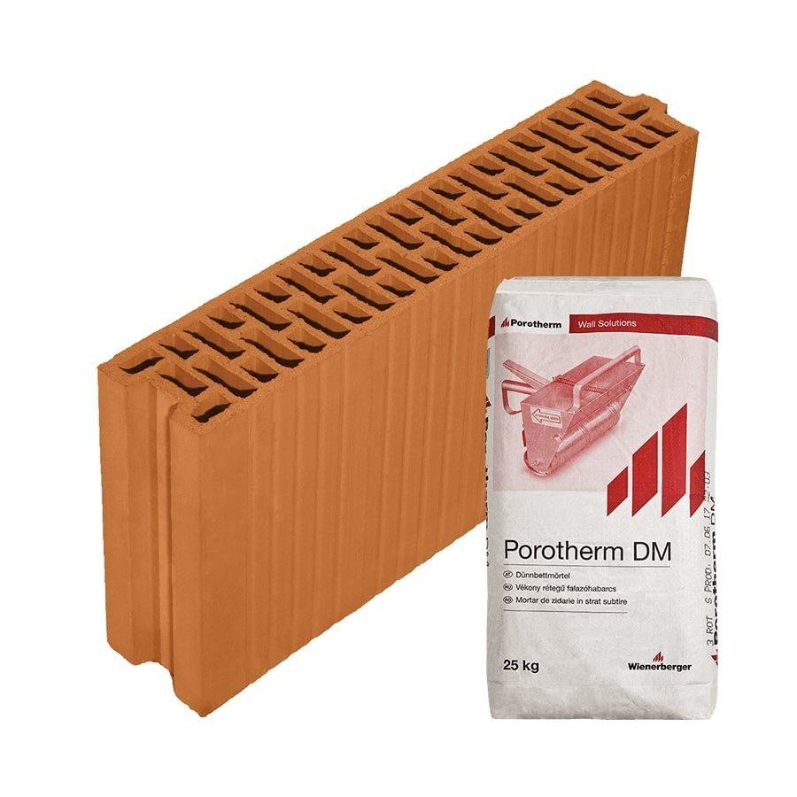 Porotherm 10 N+F Profi tégla 10 cm-es belső válaszfalhoz