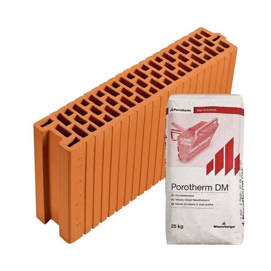 Porotherm 12 N+F Profi tégla belső válaszfalhoz