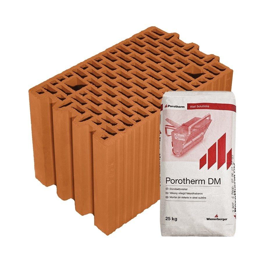 Porotherm 25 N+F Profi tégla belső teherhordó falhoz